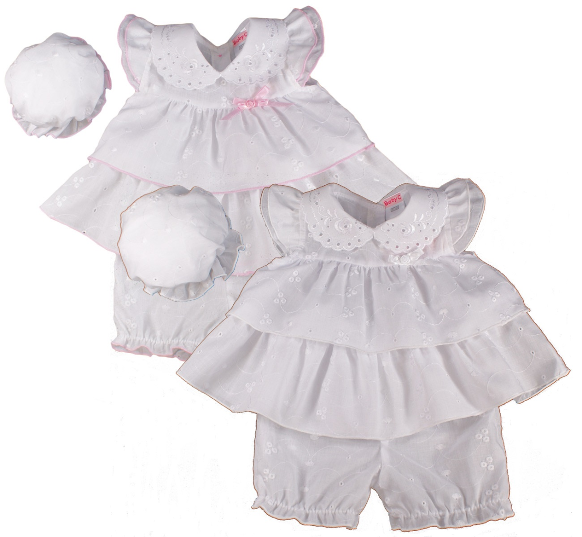 dea422991e8fe Baby girl dress premature tiny prem small reborn broderie anglaise ...
