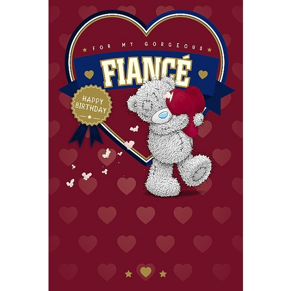 Me to You Tatty Teddy Happy Birthday Fiance Card