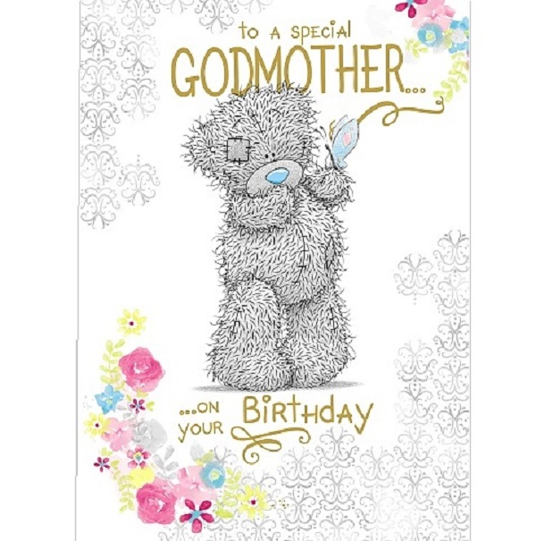 Me To You Tatty Teddy Godmother Birthday Card Small 5035924404790