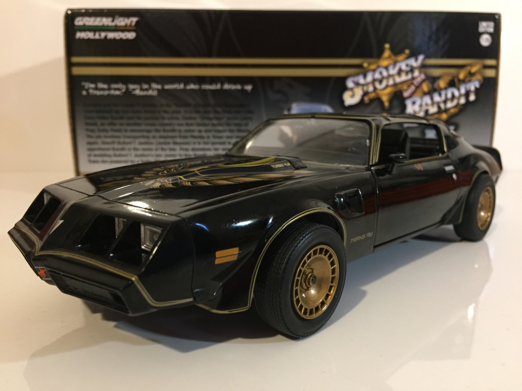 9859fbb8 Details about Smokey and the Bandit II 1980 Pontiac Trans AM Greenlight  1:24 Scale