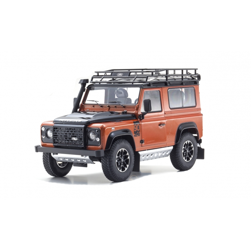 LAND ROVER DEFENDER 90 Adventure Orange 1:18 Scale Kyosho