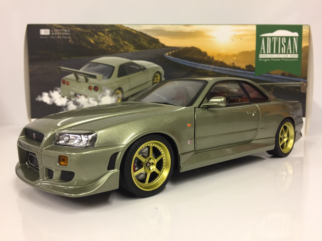 Image Is Loading 1999 Nissan Skyline GT R R34 Greenlight Artisan