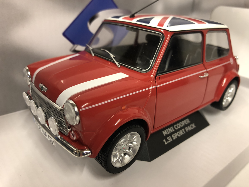 Mini Cooper S 1997 Red With Union Jack Roof 118 Scale Solido New Ebay
