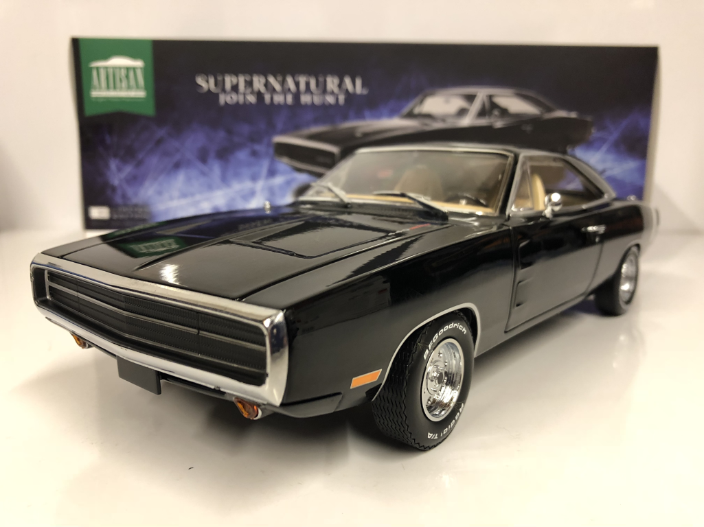 Supernatural mit der jagd 1970 dodge charger Grünlight 19046 1,18 skala