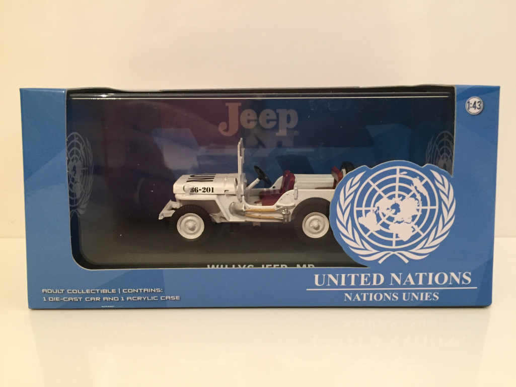Jeep United Nations Willys Jeep MB Greenlight 86308 1:43 Maßstab Neu