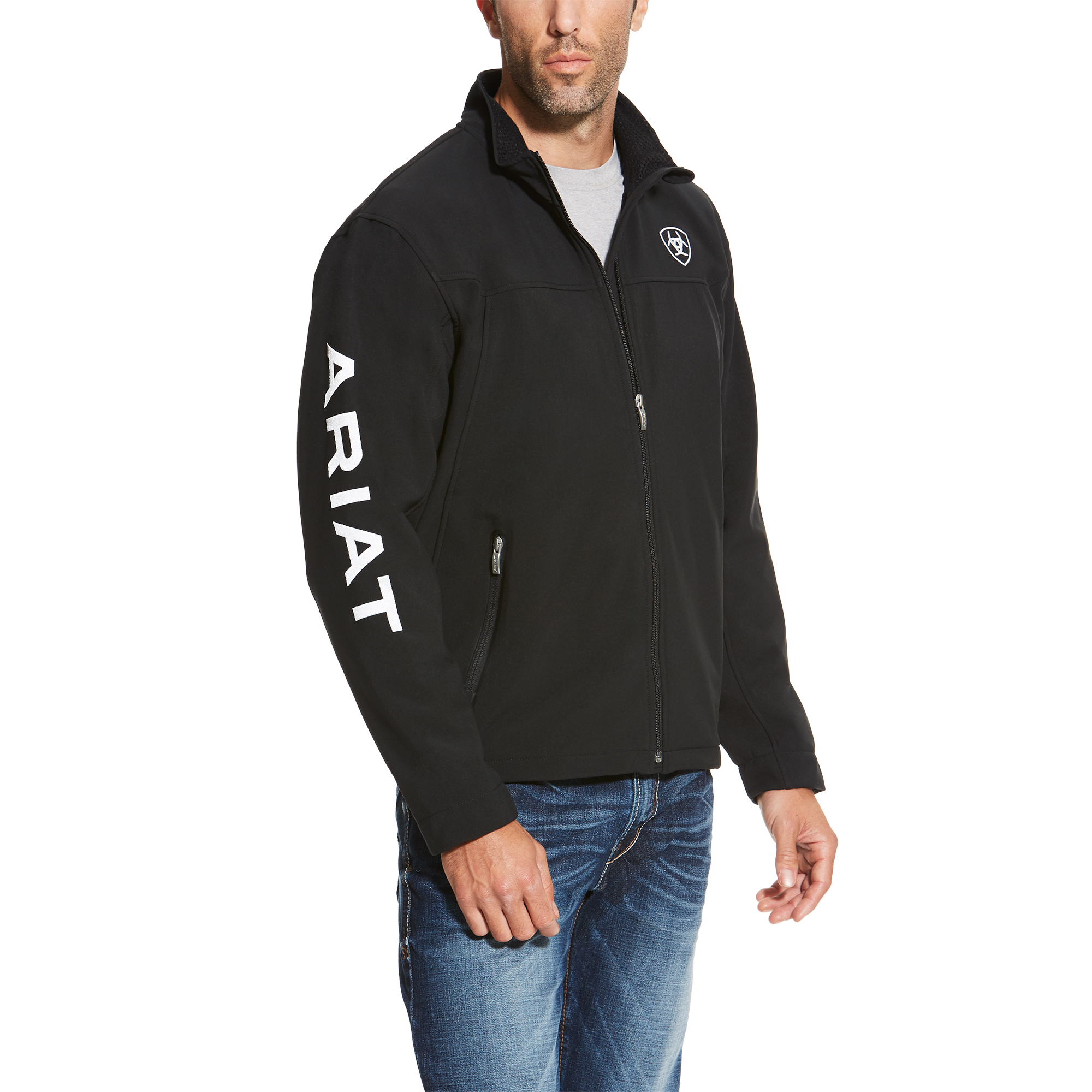 Ariat Mens New Team Softshell Jacket Navy Blue